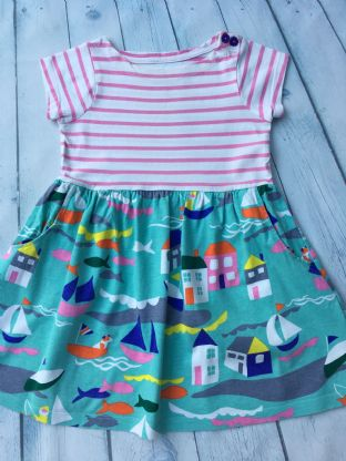 Mini Boden hotchpotch St Ives dress age 2-3